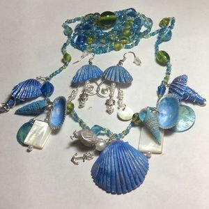 Jewelry - Beach necklace and earrings